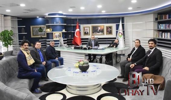 E-İHRACAT SEKTÖRÜ TEMSİLCİLERİNDEN BAŞKAN AY'A ZİYARET