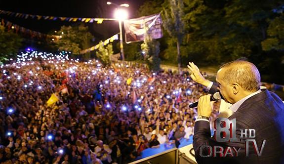 CUMHURBAŞKANI ERDOĞAN BAKAN ÖZLÜ VE BAKAN ALBAYRAK İLE EREĞLİ'DE MİTİNG YAPTI