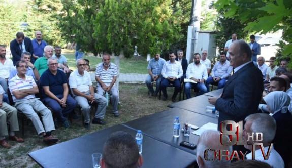 """ÖZLÜ """"DÜZCEMİZİ BİRLİKTE YÜKSELTECEĞİZ"""""""