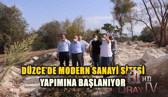 DÜZCE'DE MODERN SANAYİ SİTESİ YAPIMINA BAŞLANIYOR