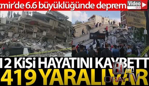 İZMİR'DE 6.6 BÜYÜKLÜĞÜNDE DEPREM!