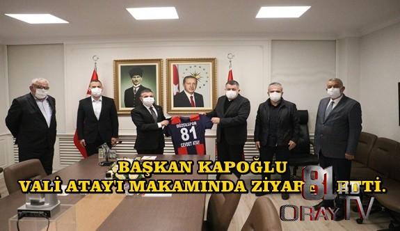 BAŞKAN KAPOĞLU, VALİ ATAY'I MAKAMINDA ZİYARET ETTİ.