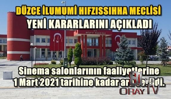 VALİLİK YENİ KARARLARI AÇIKLADI...