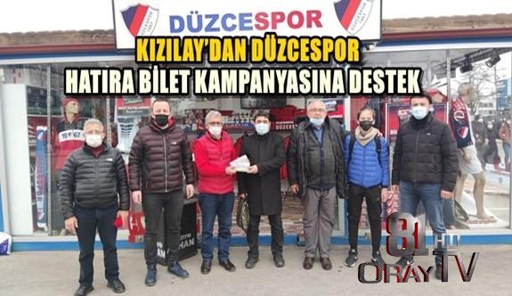 KIZILAY'DAN DÜZCESPOR HATIRA BİLET KAMPANYASINA DESTEK