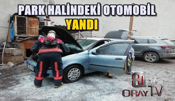 PARK HALİNDEKİ OTOMOBİL YANDI