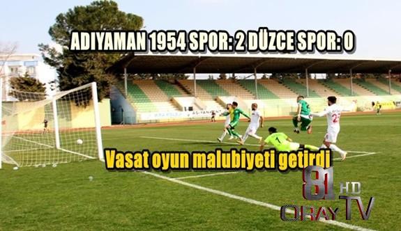 ADIYAMAN 1954 SPOR: 2 DÜZCE SPOR: 0