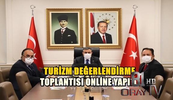 TURİZM DEĞERLENDİRME TOPLANTISI ONLİNE YAPILDI