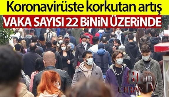 TÜRKİYE'DE SON 24 SAATTE 22.216 KORONAVİRÜS VAKASI TESPİT EDİLDİ