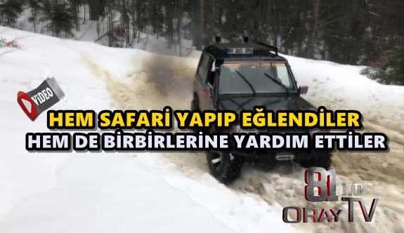 OFF-ROADCILAR KAR SAFARİSİ YAPTI