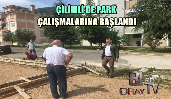 PARK ÇALIŞMALARINA BAŞLANDI