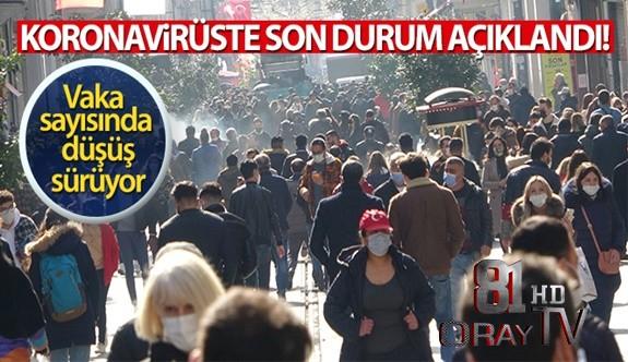 TÜRKİYE'DE SON 24 SAATTE 24.733 KORONAVİRÜS VAKASI TESPİT EDİLDİ