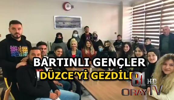 BARTINLI GENÇLER DÜZCE'Yİ GEZDİLER