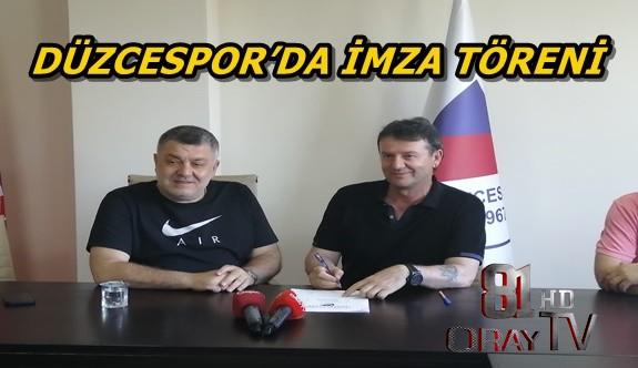 DÜZCESPOR'DA TOPLU İMZA TÖRENİ