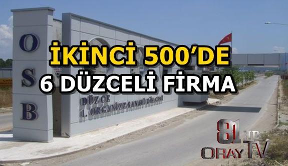 İKİNCİ 500'E 6 DÜZCELİ FİRMA GİRDİ