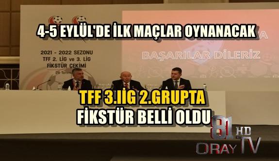 TFF 3.lİG 2.GRUPTA FİKSTÜR BELLİ OLDU
