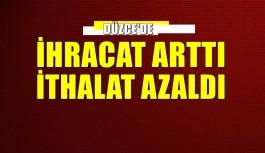 DÜZCE'DE İHRACAT ARTTI İTHALAT AZALDI