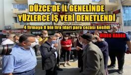 DÜZCE'DE FİRMALAR KORONA VİRÜS DENETİMDEN GEÇER NOT ALDI