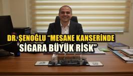 """DR. ŞENOĞLU """"MESANE KANSERİNDE SİGARA BÜYÜK RİSK"""""""