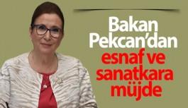 TİCARET BAKANI RUHSAR PEKCAN'DAN ESNAF VE SANATKARA MÜJDE