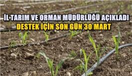 DESTEK İÇİN SON GÜN 30 MART