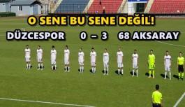 DÜZCESPOR PLAY-OFF DA ELENDİ