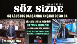 SAĞLIK İL MÜDÜRÜ YILMAZ 81 ORAY TV'DE CANLI YAYINDA