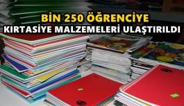 BİN 250 ÖĞRENCİYE KIRTASİYE MALZEMELERİ ULAŞTIRILDI