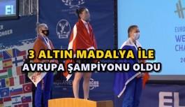 TOPLAMDA 214 KİLO KALDIRDI 3 ALTIN MADALYA ALDI