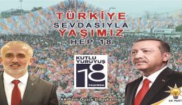 AK PARTİ 18. KURULUŞ YIL DÖNÜMÜNÜ...