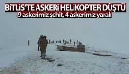 BİTLİS'TE ASKERİ HELİKOPTER DÜŞTÜ:...