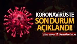TÜRKİYE'DE SON 24 SAATTE 11.322 KORONAVİRÜS...