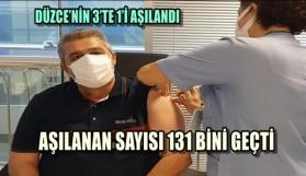 DÜZCE'NİN 3'TE 1'İ AŞILANDI